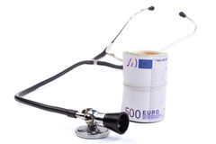 Stethoscope With Euro Royalty Free Stock Photos