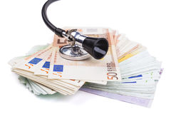Stethoscope and Euro Stock Images