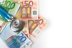 Stethoscope and euro money. Stock Photography