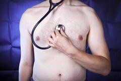 Stethoscope exam Stock Images
