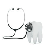 Stethoscope examing the tooth Royalty Free Stock Photography