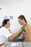 Stethoscope examining Royalty Free Stock Photo