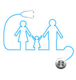 Stethoscope and family Stock Photos