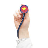 Stethoscope with flag series - Vietnam Royalty Free Stock Photos