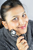 Stethoscope girl Stock Images
