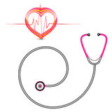 Stethoscope and graph Royalty Free Stock Photo