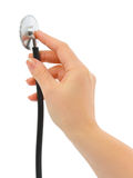 Stethoscope in hand Royalty Free Stock Photo