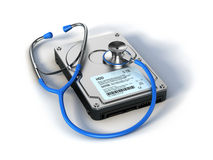 Stethoscope and HDD Stock Photos