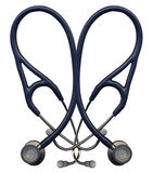 Stethoscope Heart. Stethoscopes overlaid in the shape of a heart royalty free stock image