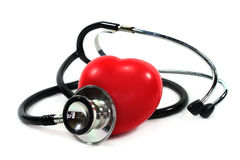 Stethoscope with heart Stock Photography
