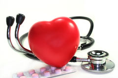Stethoscope with heart Royalty Free Stock Images