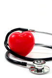 Stethoscope with heart Royalty Free Stock Photo