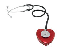 Stethoscope and heart Stock Image