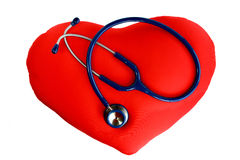 Stethoscope on the heart Stock Image