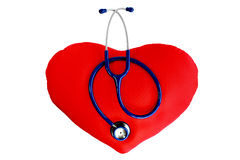 Stethoscope on the heart Royalty Free Stock Image