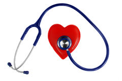 Stethoscope on the heart Royalty Free Stock Photos