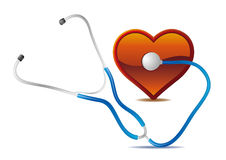 stethoscope and heart Royalty Free Stock Images