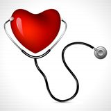 Stethoscope with Heart Stock Image