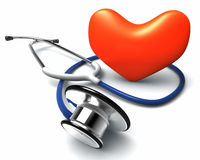 Stethoscope and heart Stock Photography