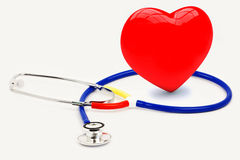 Stethoscope with heart Stock Images