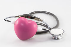 Stethoscope and heart. Heart and stethoscope love medicine Stock Photography