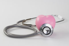 Stethoscope with heart Royalty Free Stock Image