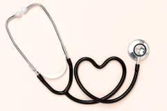 Stethoscope and heart. Royalty Free Stock Images