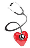 Stethoscope heart Royalty Free Stock Photo