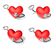 Stethoscope and heart 3d array Stock Photography