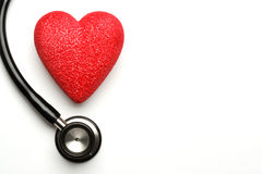 Stethoscope and heart Stock Photos