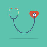 Stethoscope Heart Checking Stock Images