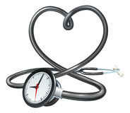 Stethoscope Heart Clock Concept Royalty Free Stock Image