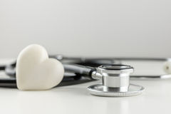 Stethoscope with a heart Stock Photography