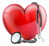 Stethoscope and Heart Concept Royalty Free Stock Photos