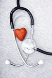 Stethoscope and heart Royalty Free Stock Image