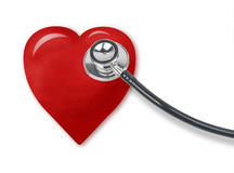 Stethoscope and heart Royalty Free Stock Photography