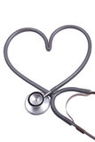 Stethoscope with heart shape Royalty Free Stock Image