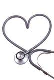 Stethoscope with heart shape royalty free stock image