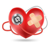 Stethoscope and a heart shape Royalty Free Stock Image