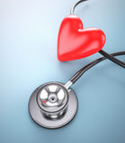 Stethoscope with heart shape Stock Images