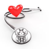 Stethoscope with heart shape Royalty Free Stock Photography