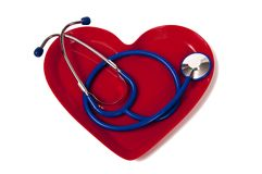 Stethoscope In Heart Shaped Plate Royalty Free Stock Image