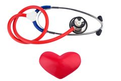 Stethoscope and a heart Royalty Free Stock Photo