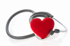 Stethoscope with heart. On white background royalty free stock photo