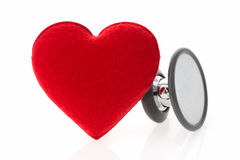 Stethoscope with heart. On white background stock images