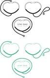 Stethoscope icon and logo Royalty Free Stock Photography