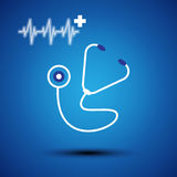 Stethoscope icon Stock Photos