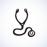 Stethoscope icon. Vector drawing Royalty Free Stock Photo