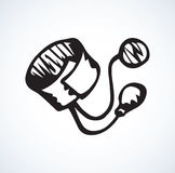 Stethoscope icon. Vector drawing Royalty Free Stock Photos