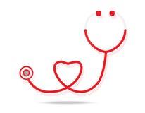 Stethoscope. Icon on white background Royalty Free Stock Photo